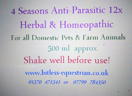 4 seasons safe natural anti parasitic from Bitless Equestrian
