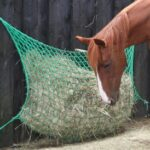 ground parallel hay net from bitless natural equestrian