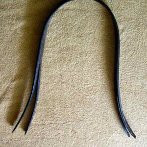 leather headpiece Dr Cook Bitless natural